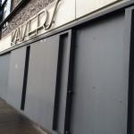Restaurant Kaisers, Sturmflut Stahlschott geschlossen