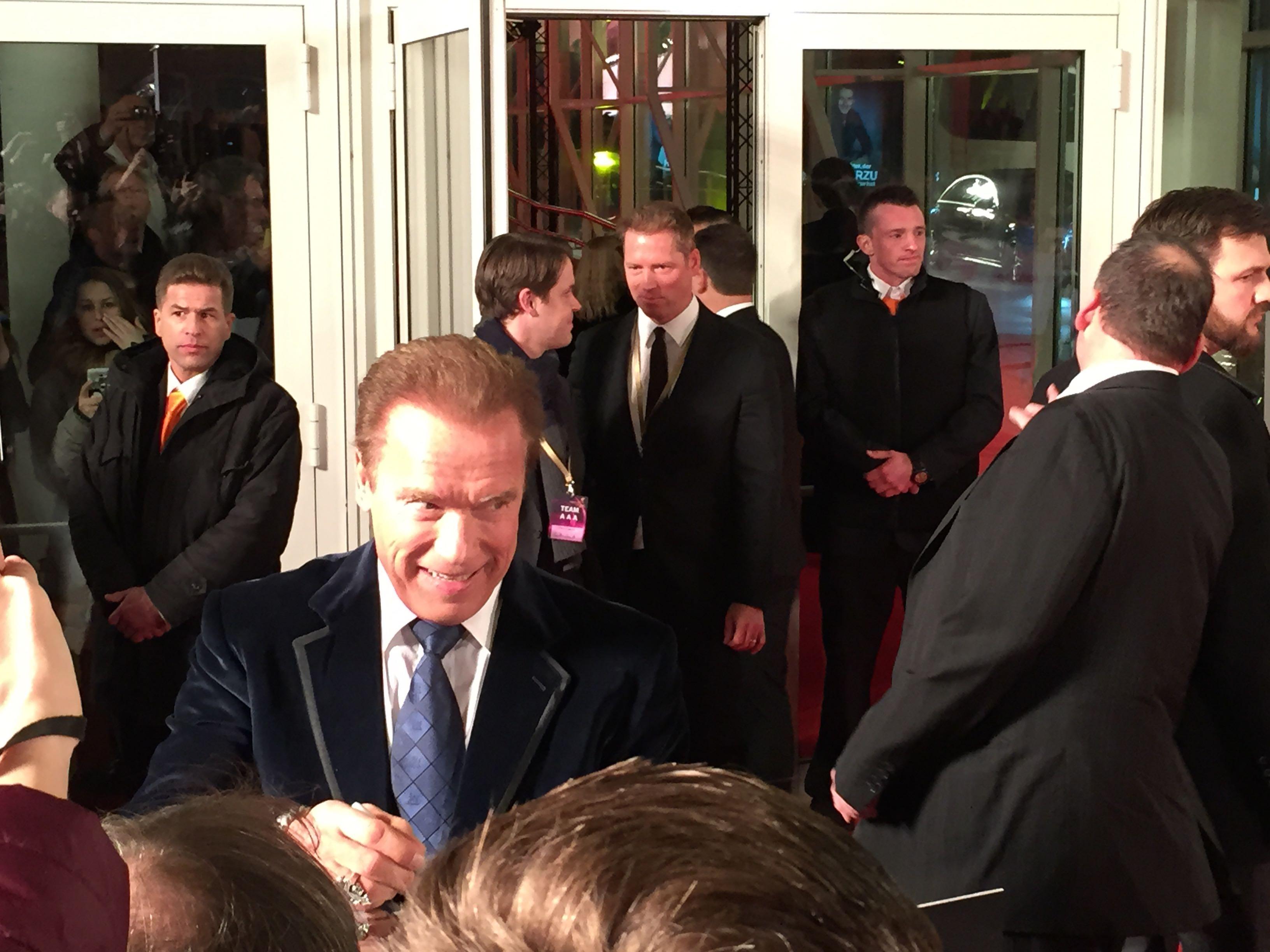 Arnold Schwarzenegger, Goldene Kamera, Hamburg Sightseeing