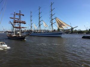 Hafengeburtstag 2015 Hamburg Auskenner Auslaufparade Segelschiffe