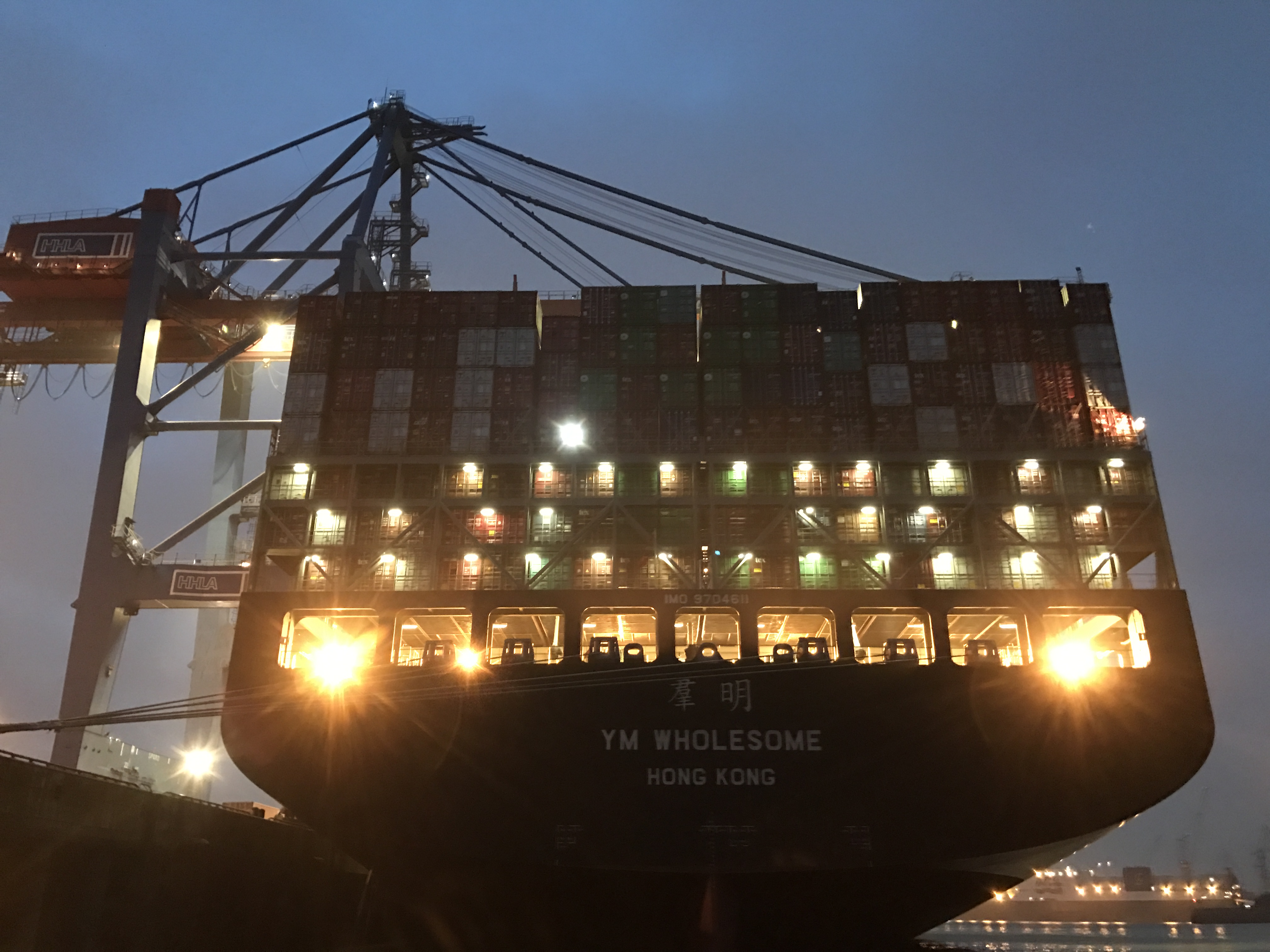 hamburger hafen, containerschiff, HHLA Containerbruecke